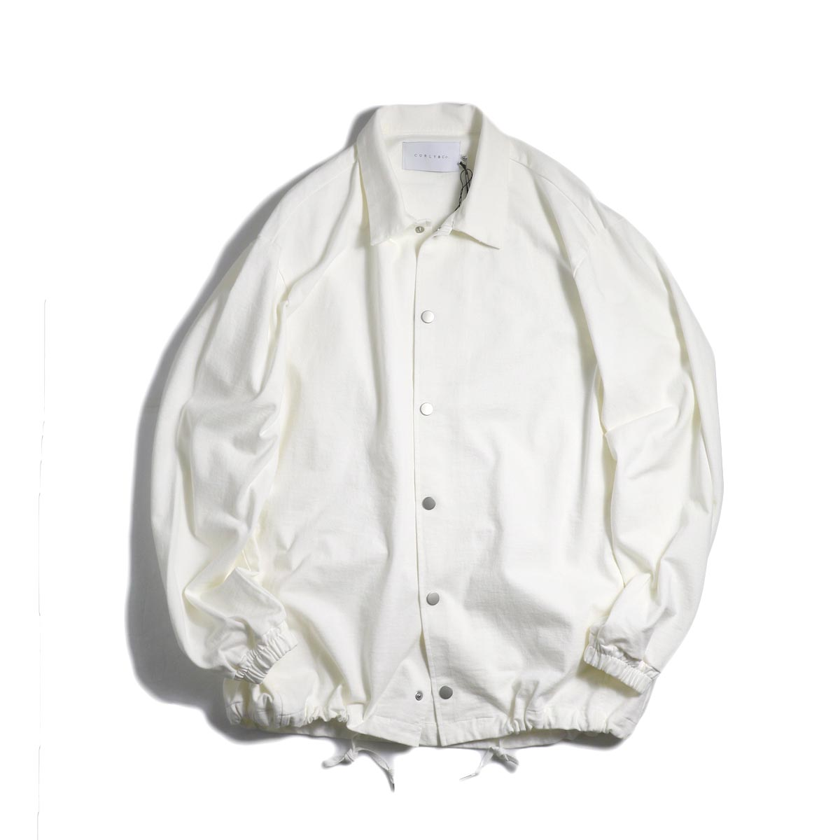 CURLY / Delight Coach Jacket -White 正面