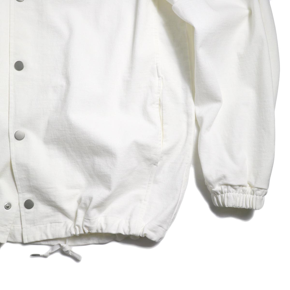 CURLY / Delight Coach Jacket -White 裾、袖口