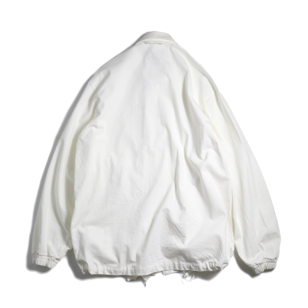CURLY / Delight Coach Jacket -White 背面