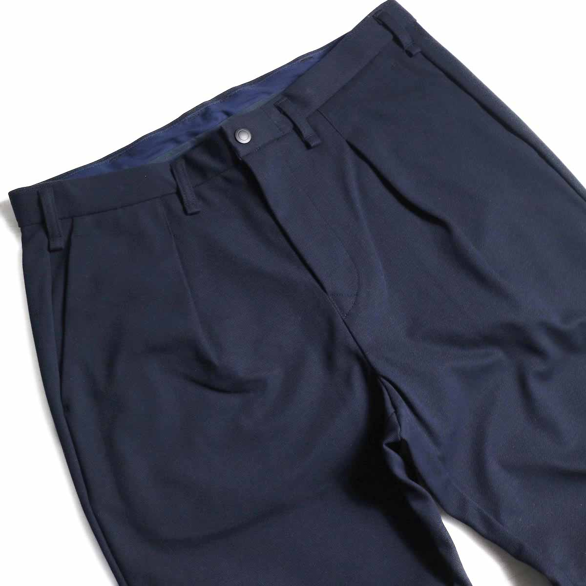 CURLY / Track Trousers -Navy ウエスト