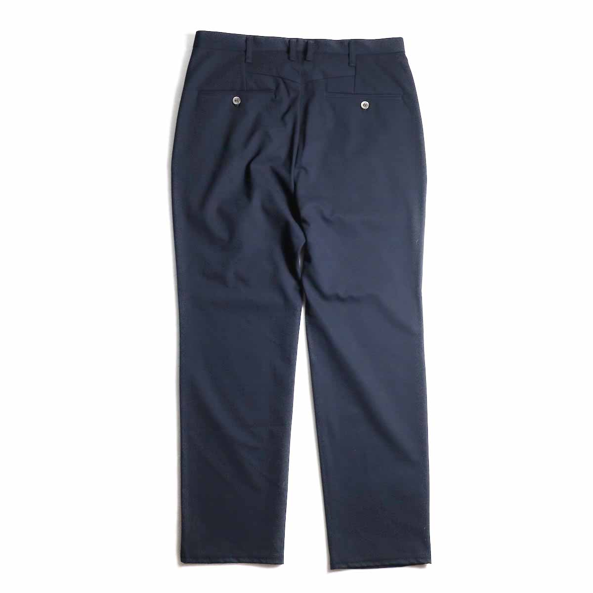 CURLY / Track Trousers -Navy 背面