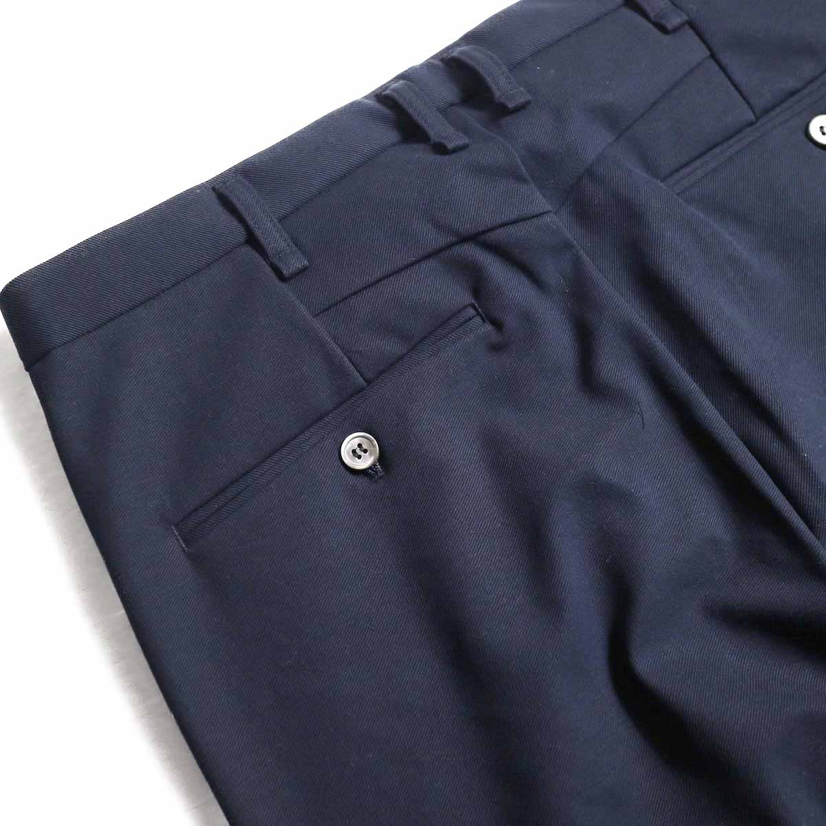 CURLY / Track Trousers -Navy 背面ポケット