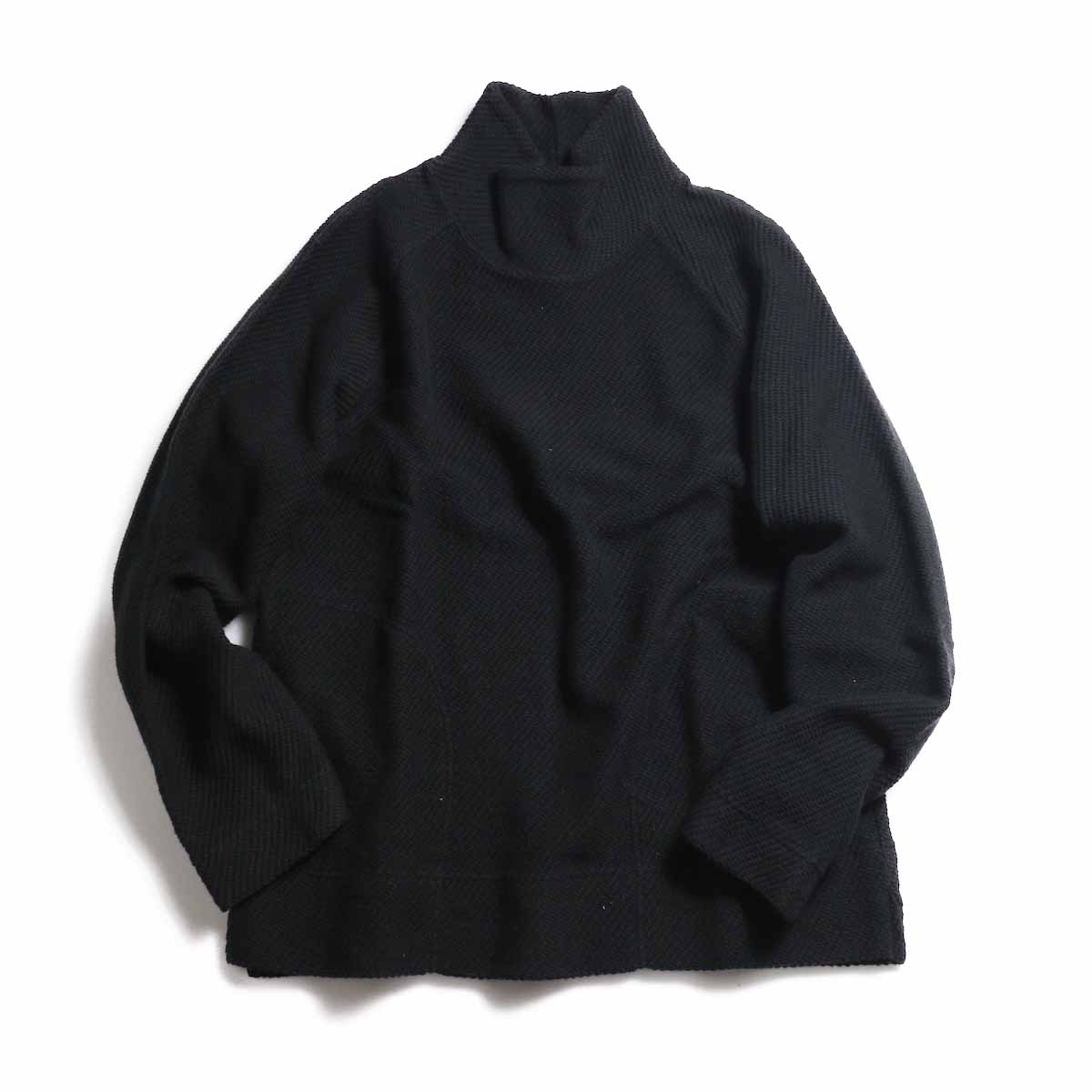 CURLY / Cloudy Moc Neck -Black