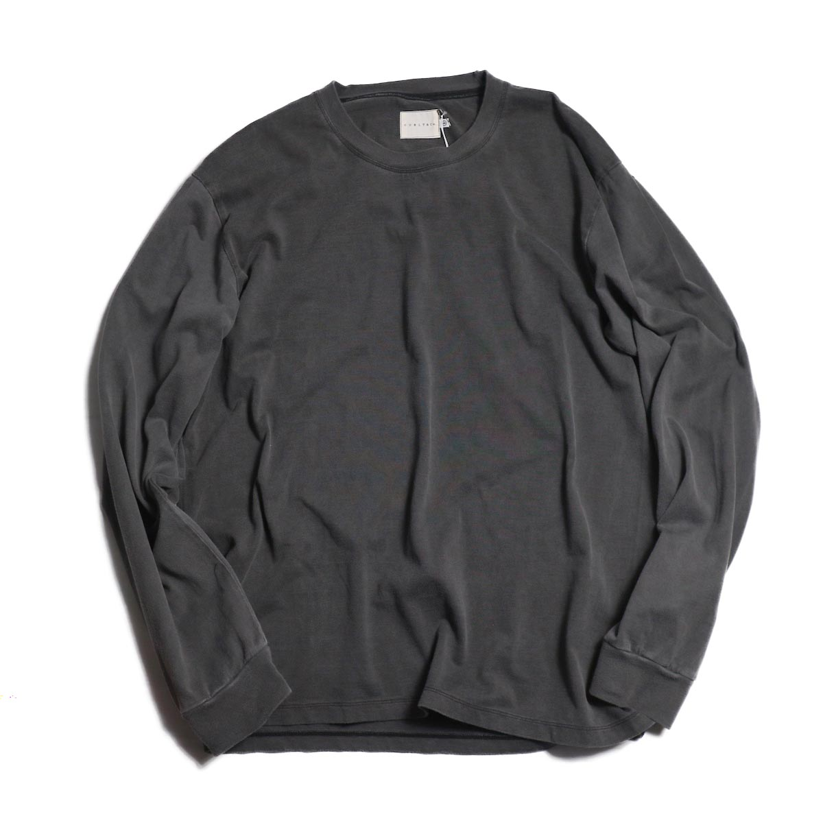 CURLY / HELICAL LS TEE -CHARCOAL