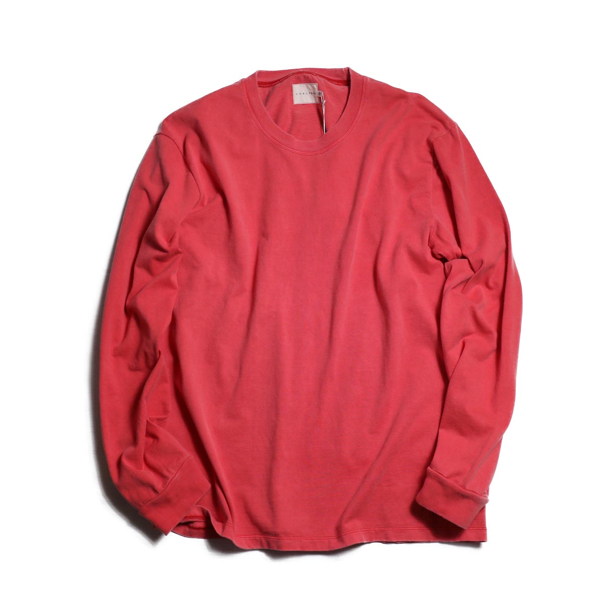 CURLY / HELICAL LS TEE -RED