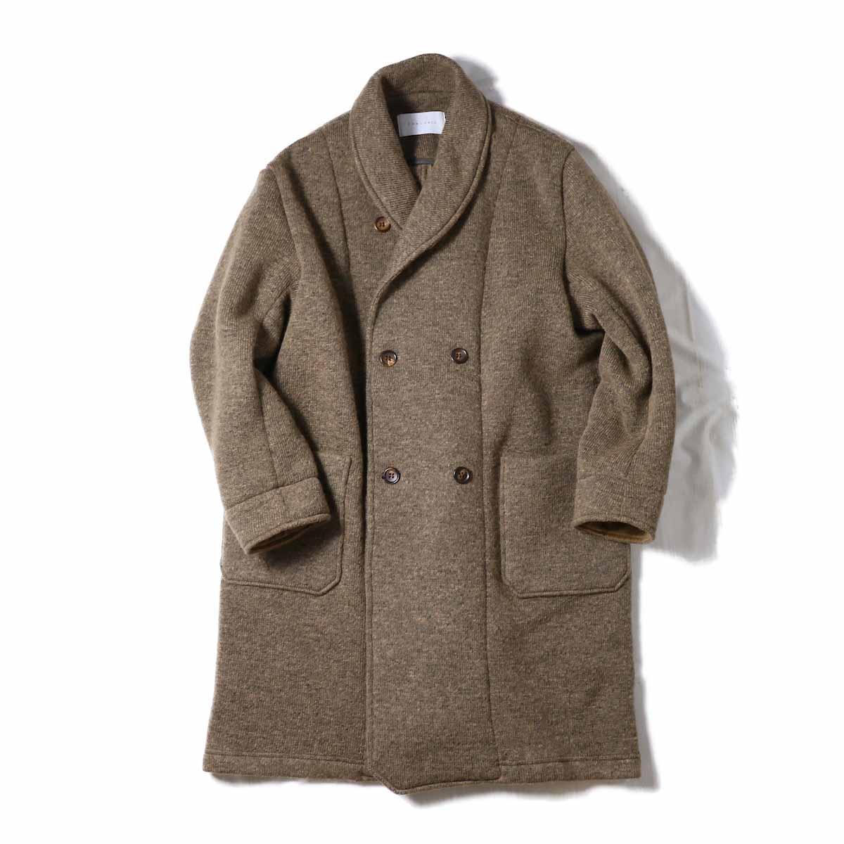 CURLY / Misty Shawl Coat -BEIGE