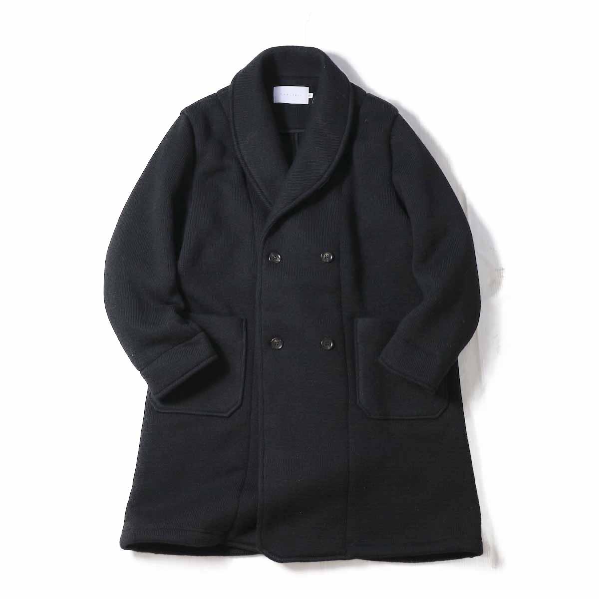 CURLY / Misty Shawl Coat -BLACK
