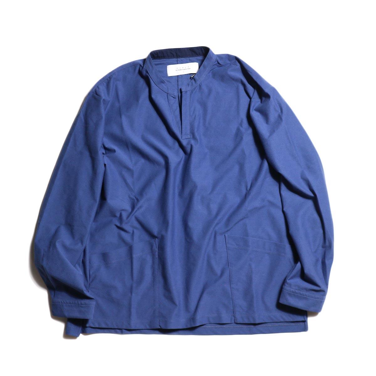 CURLY / NOMADIC LS SMOCK SHIRTS -BLUE