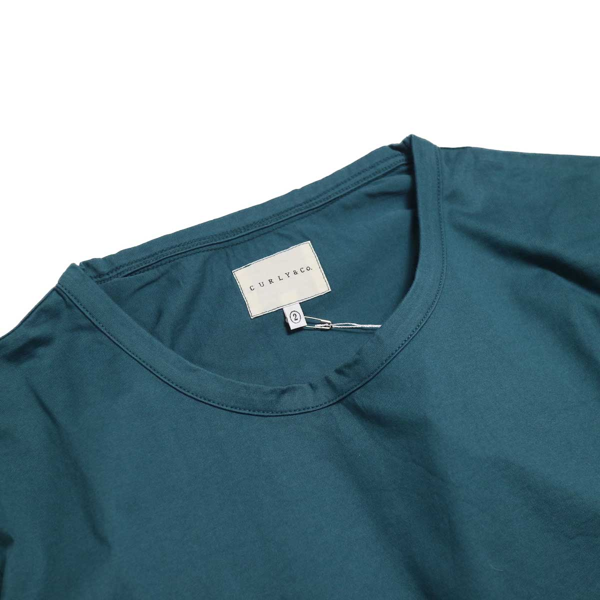 CURLY / SDH HS CN TEE -INK GREEN クルーネック