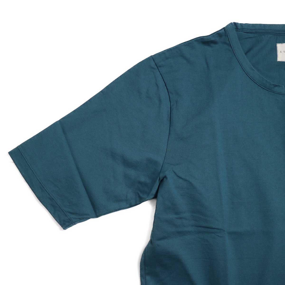 CURLY / SDH HS CN TEE -INK GREEN ハーフスリーブ