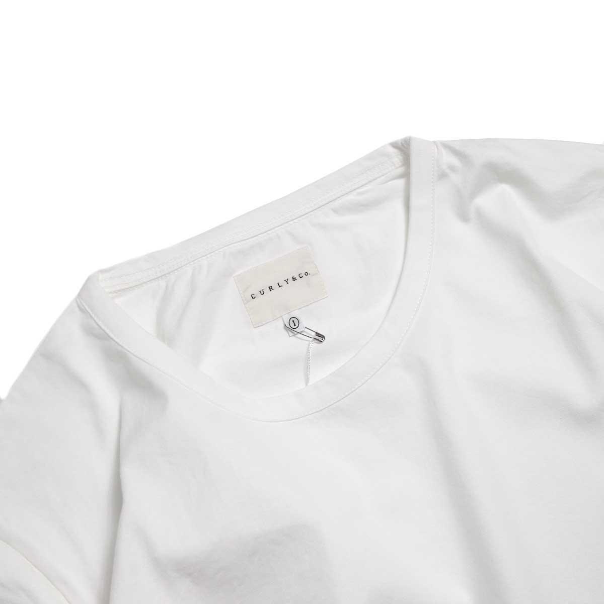 CURLY / SDH HS CN TEE -White クルーネック