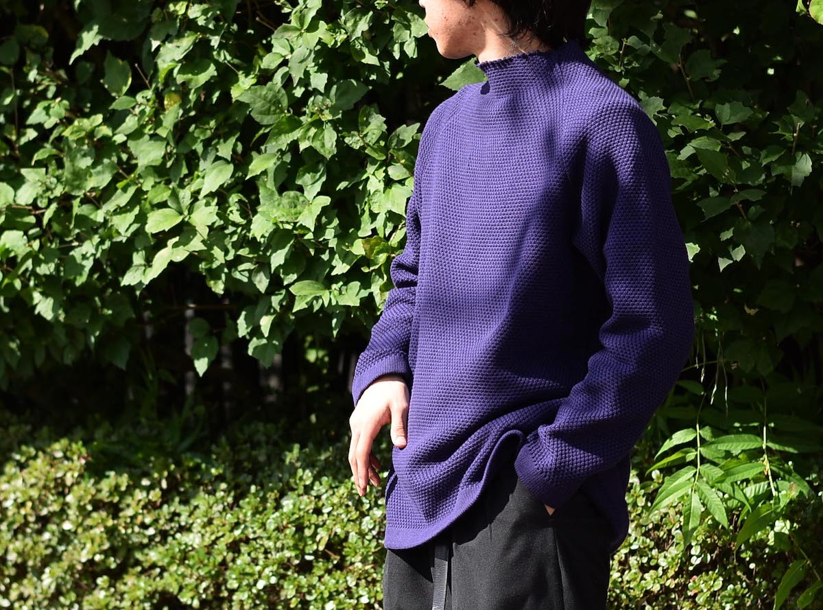 CURLY / KIPS BTL SWEATER (Purple)着用例(165cm サイズ2着用)