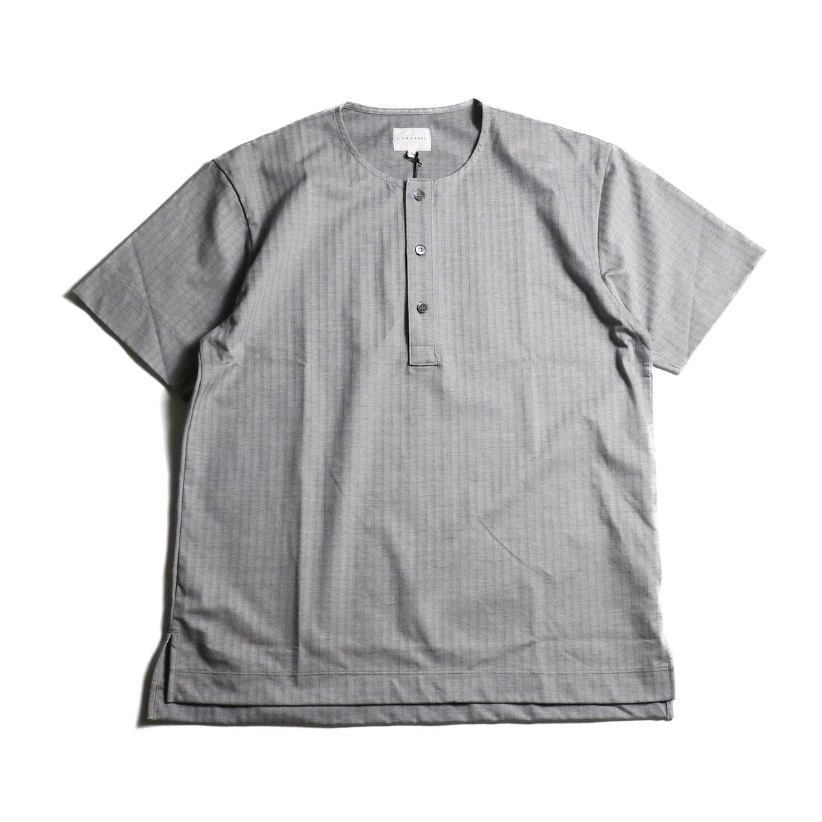 CURLY / SALFORD 3B SS HENLEY (Gray HB)正面