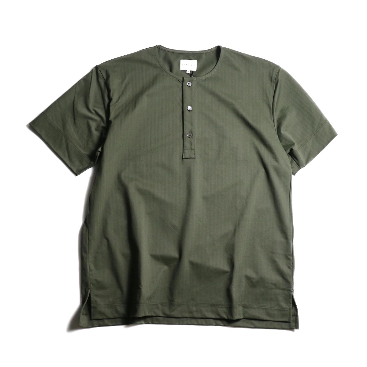 CURLY / SALFORD 3B SS HENLEY (Olive HB)正面