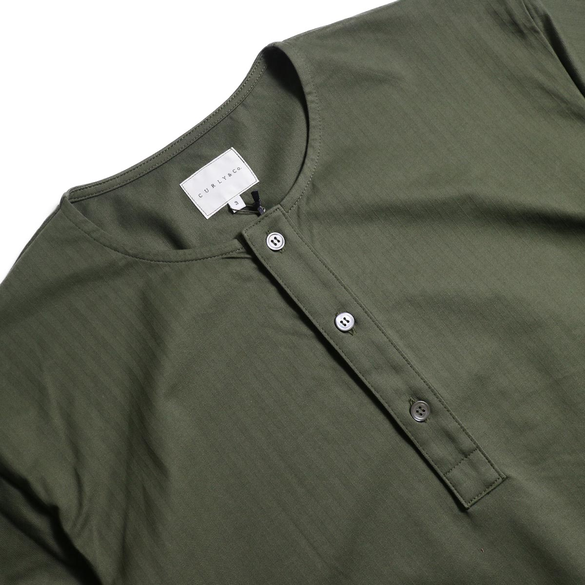 CURLY / SALFORD 3B SS HENLEY (Olive HB)3Bヘンリー