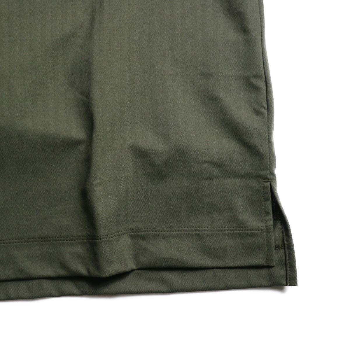 CURLY / SALFORD 3B SS HENLEY (Olive HB)スリット