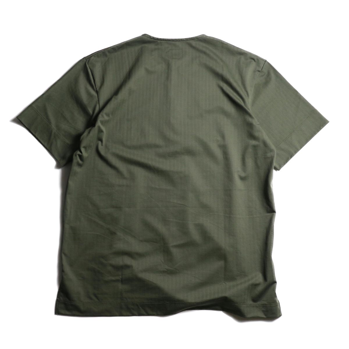 CURLY / SALFORD 3B SS HENLEY (Olive HB)背面