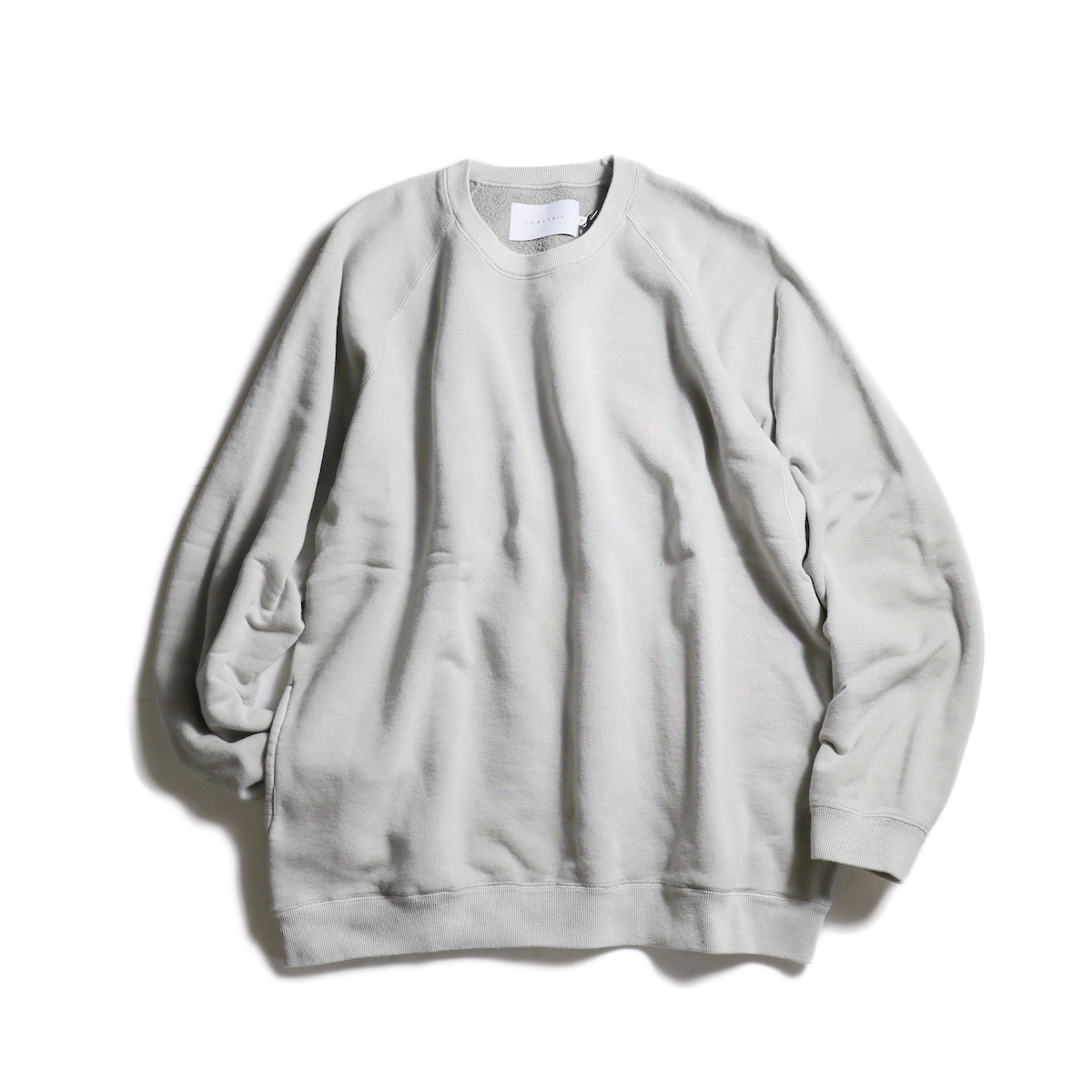 CURLY / FROSTED CREW SWEAT (Lt.Gray)