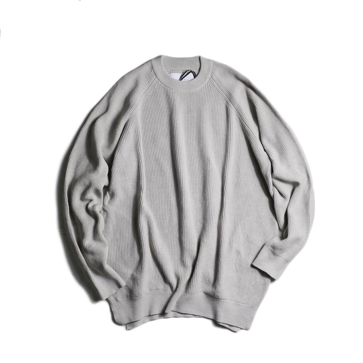 CURLY / ASSEMBLY CREW KNIT (Lt.Gray)