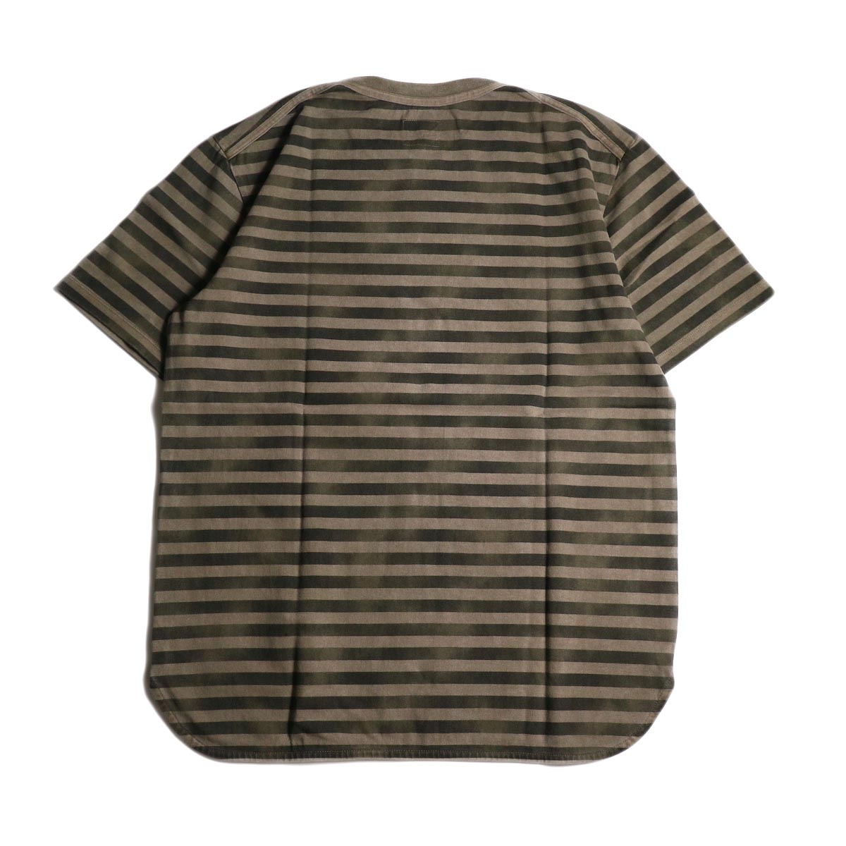 CURLY / FROSTED SS BORDER TEE (Beige/Black)背面