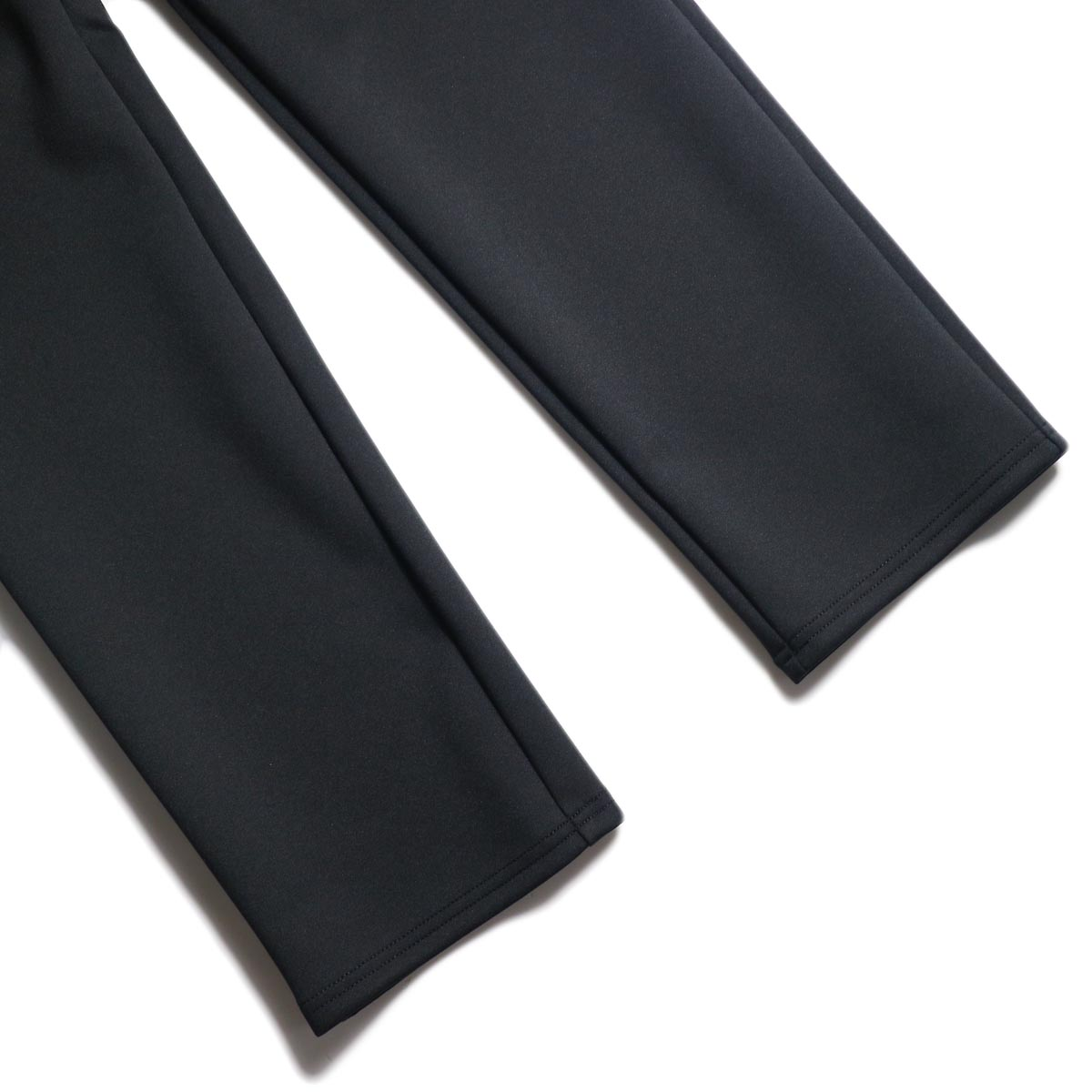 "CURLY / TRACK TROUSERS ""Plain"" (Black) 裾"