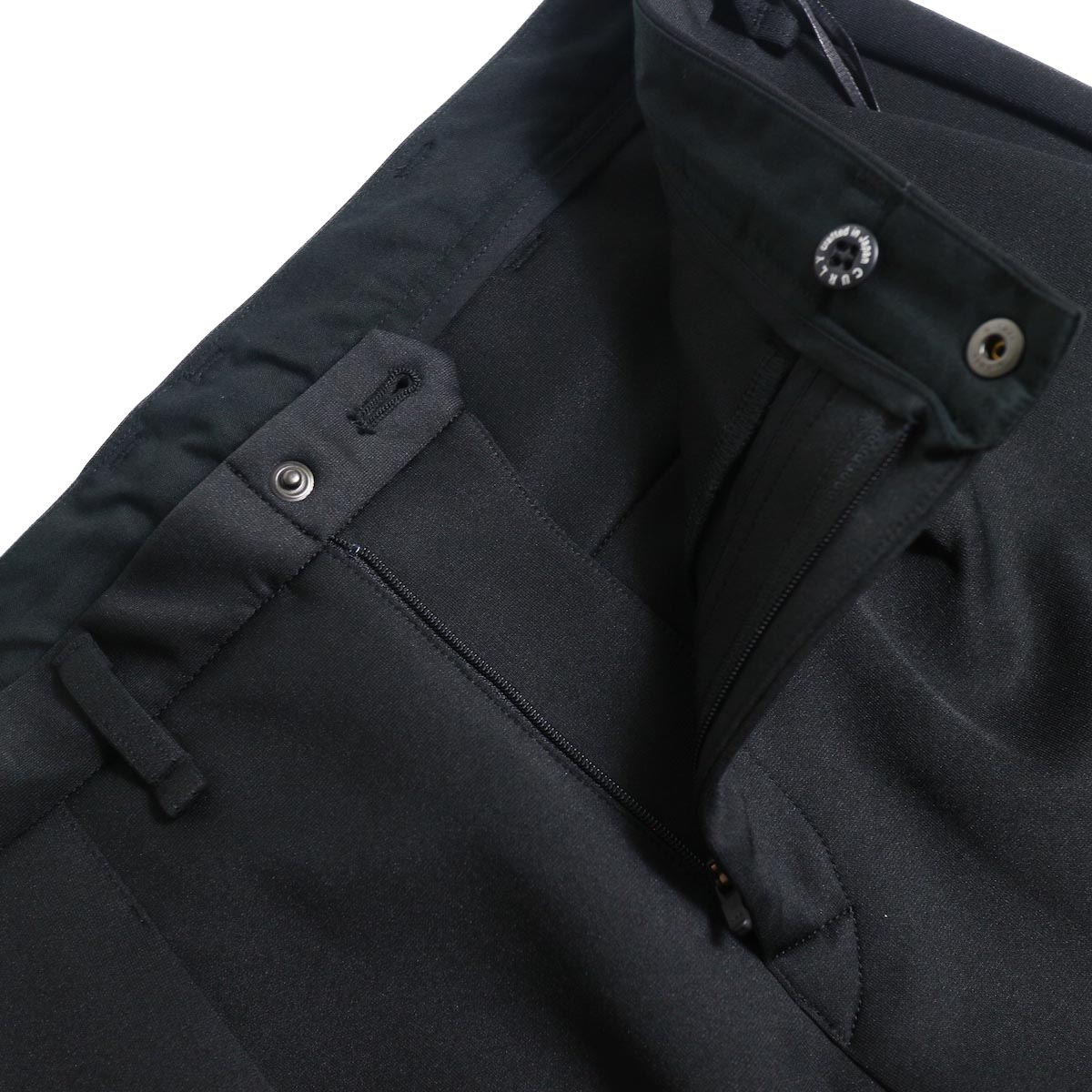 "CURLY / TRACK TROUSERS ""Plain"" (Black) スナップボタン"