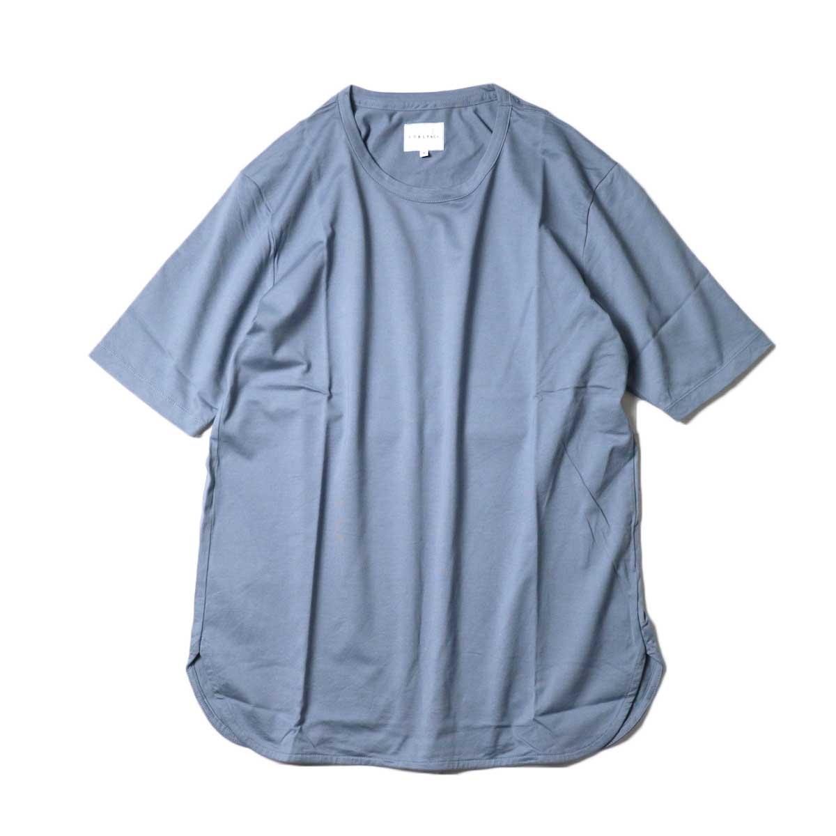 CURLY / SDH L/S CN TEE (Steel Blue)