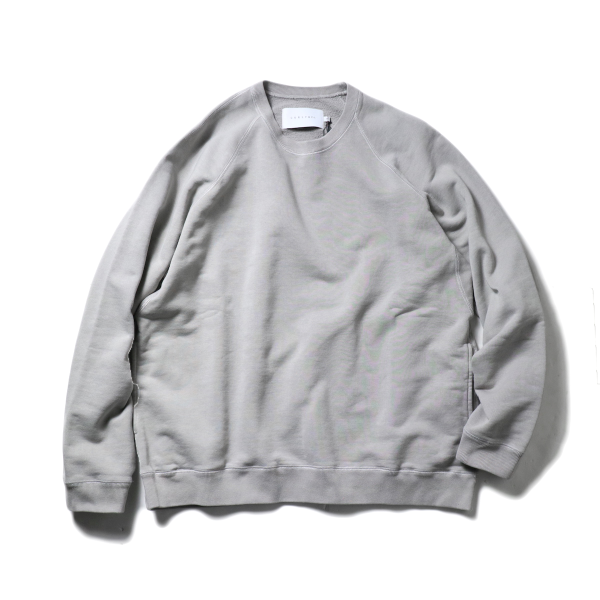 CURLY / FROSTED CREW SWEAT (LT.Gray)正面