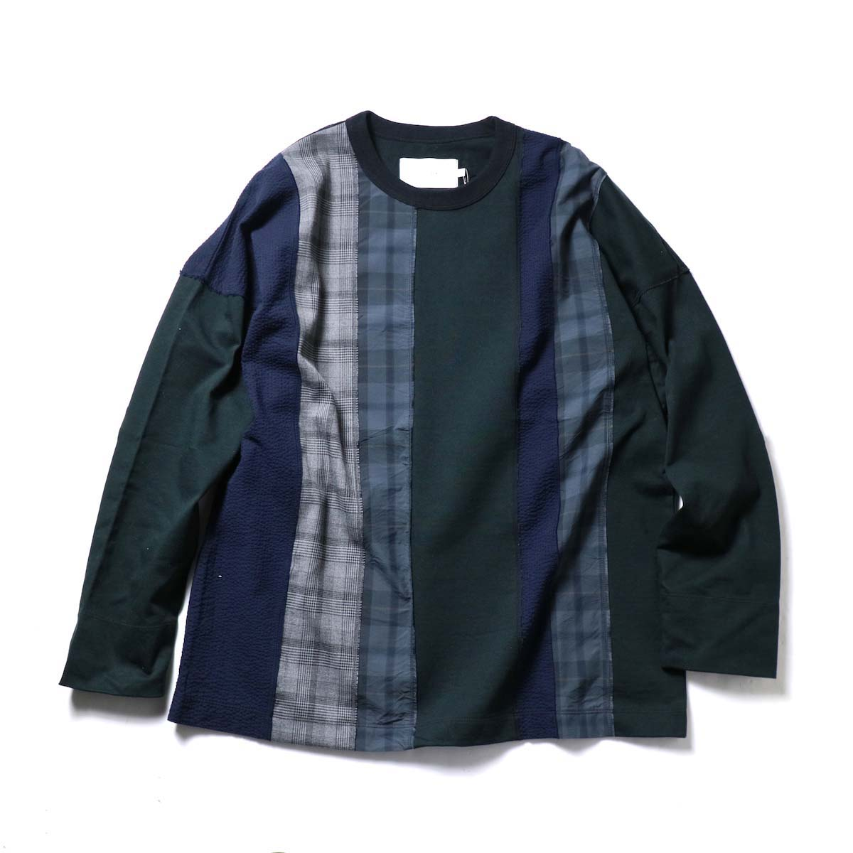 CURLY / ANCOATS L/S TEE (Black)正面