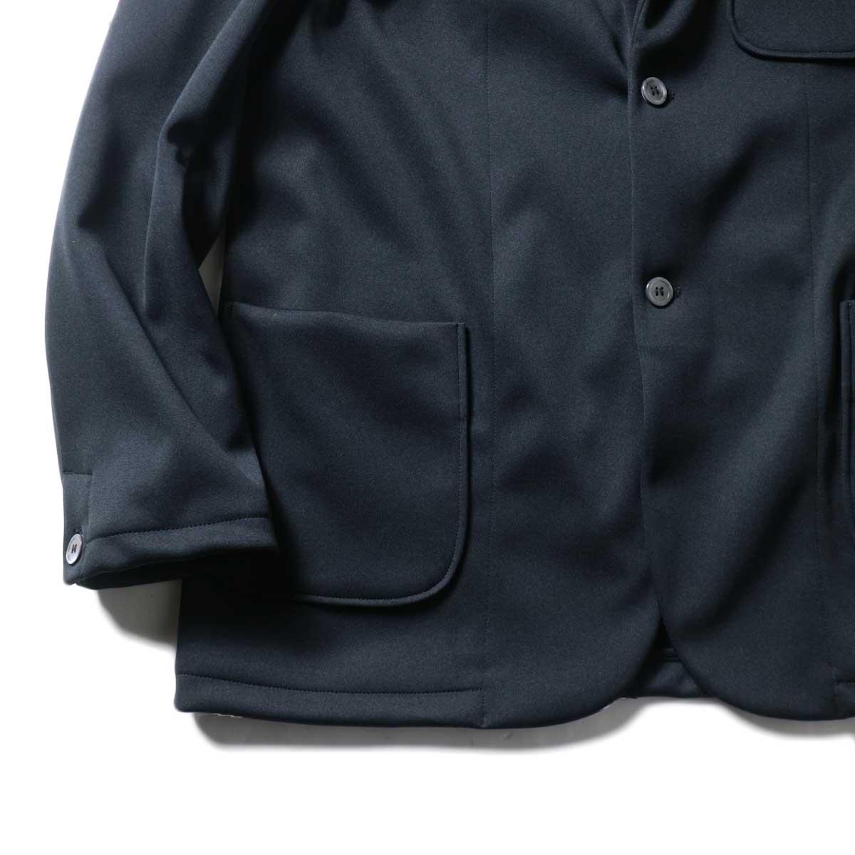 CURLY / TRACK JACKET (Black)袖、裾