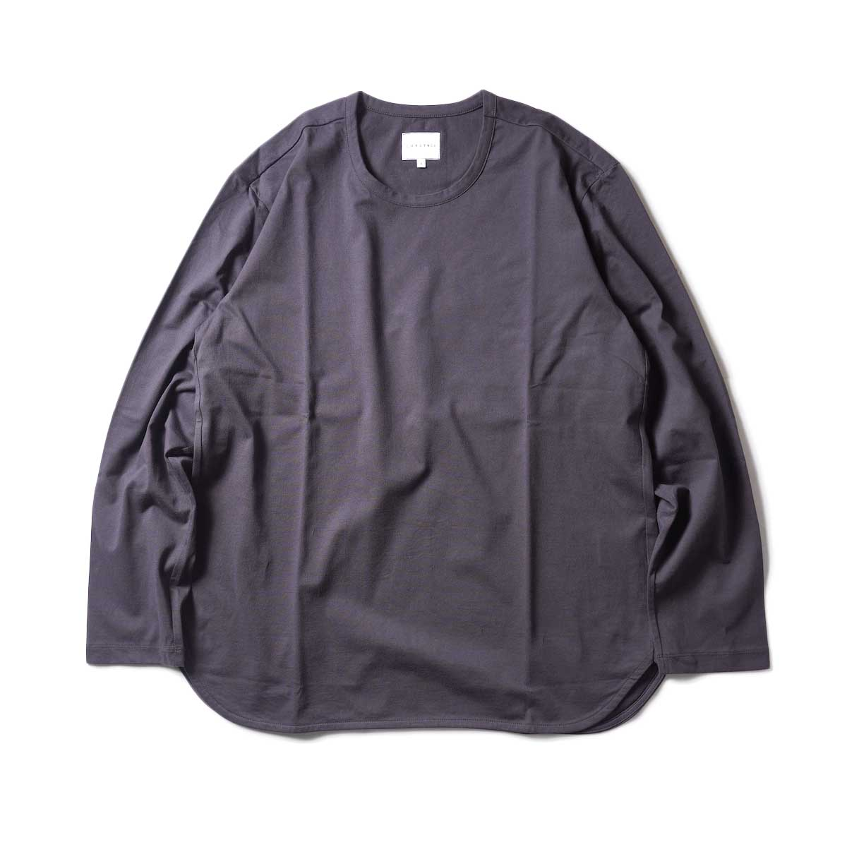 CURLY / ELS L/S CN TEE (Charcoal)正面