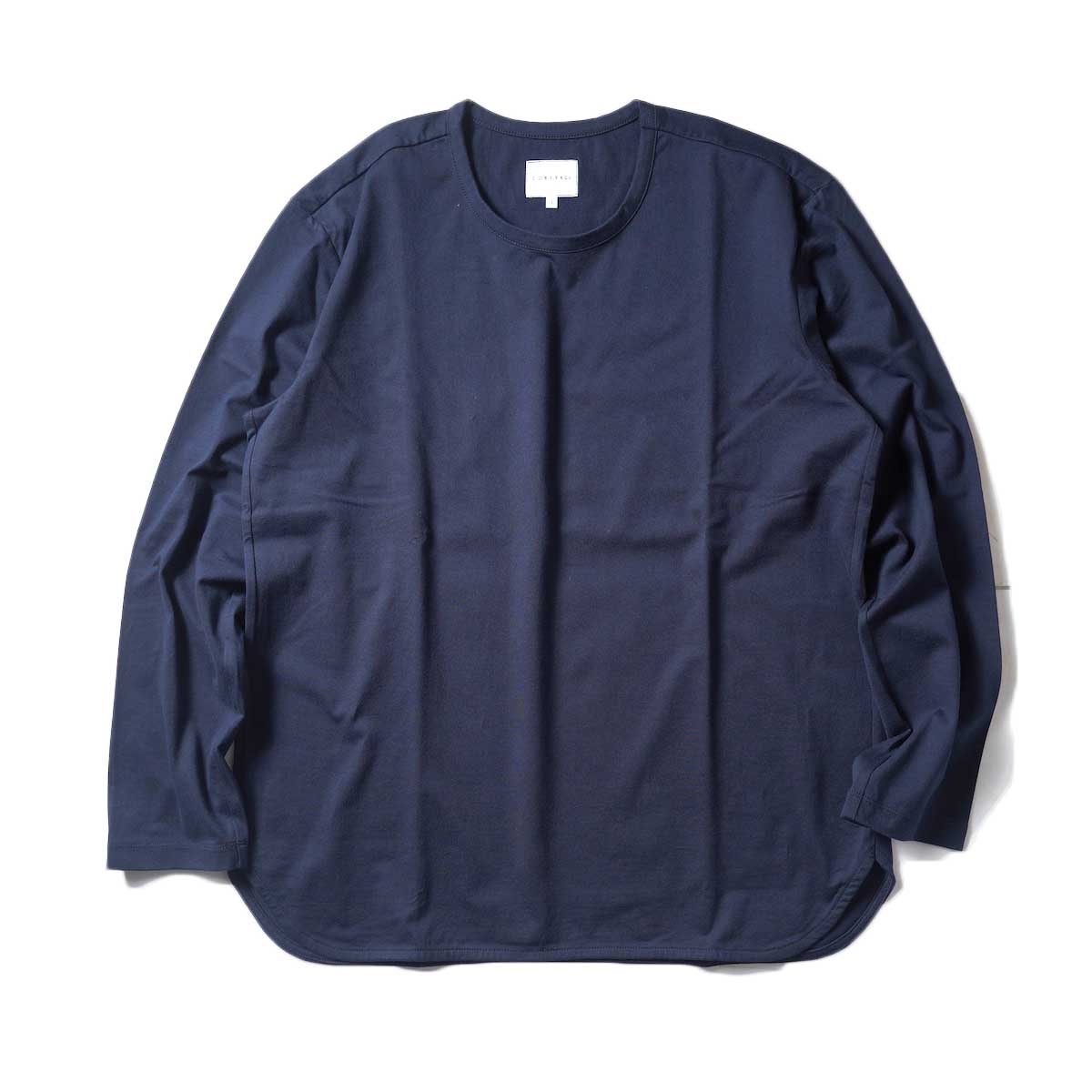 CURLY / ELS L/S CN TEE (Midnight Navy)正面