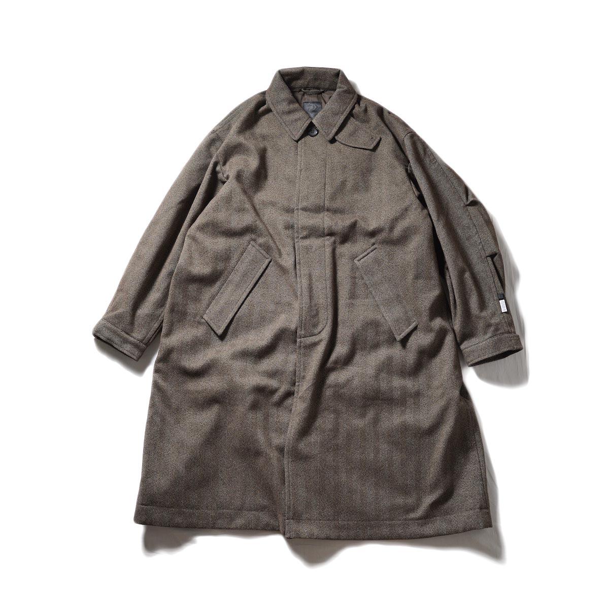 DAIWA PIER39 / GORE-TEX INFINIUM TECH TWEEDSOUTIEN COLLAR COAT (Beige)