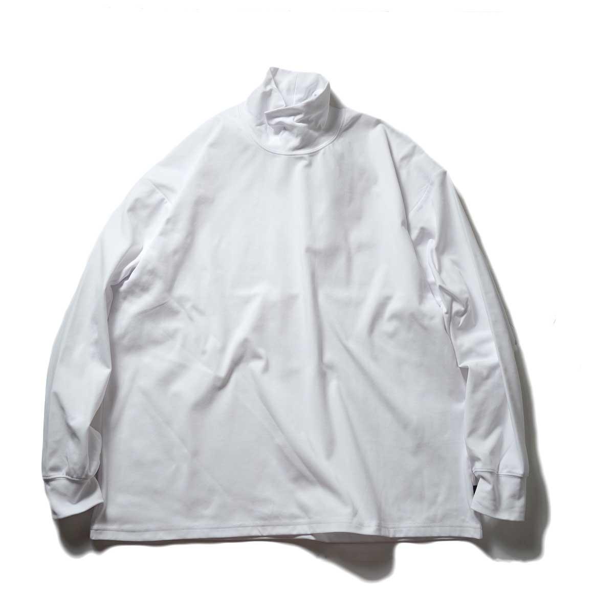 DAIWA PIER39 / TECH MOCK NECK TEE L/S (White)