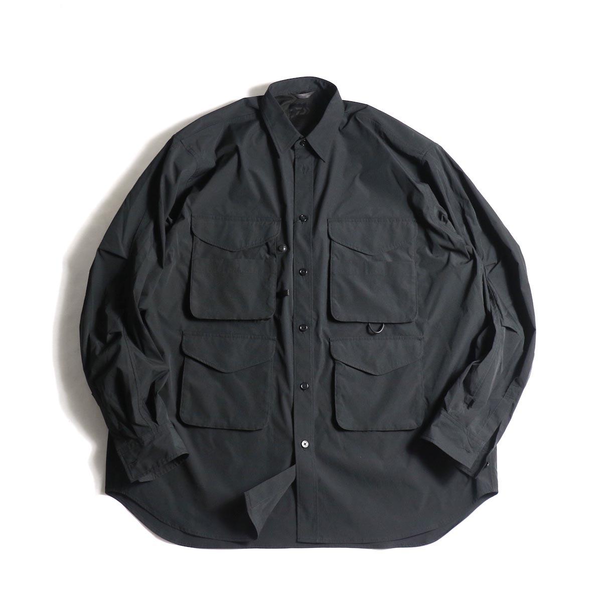 DAIWA PIER39 / MULCH POCKET FIELD SHIRTS (Black)