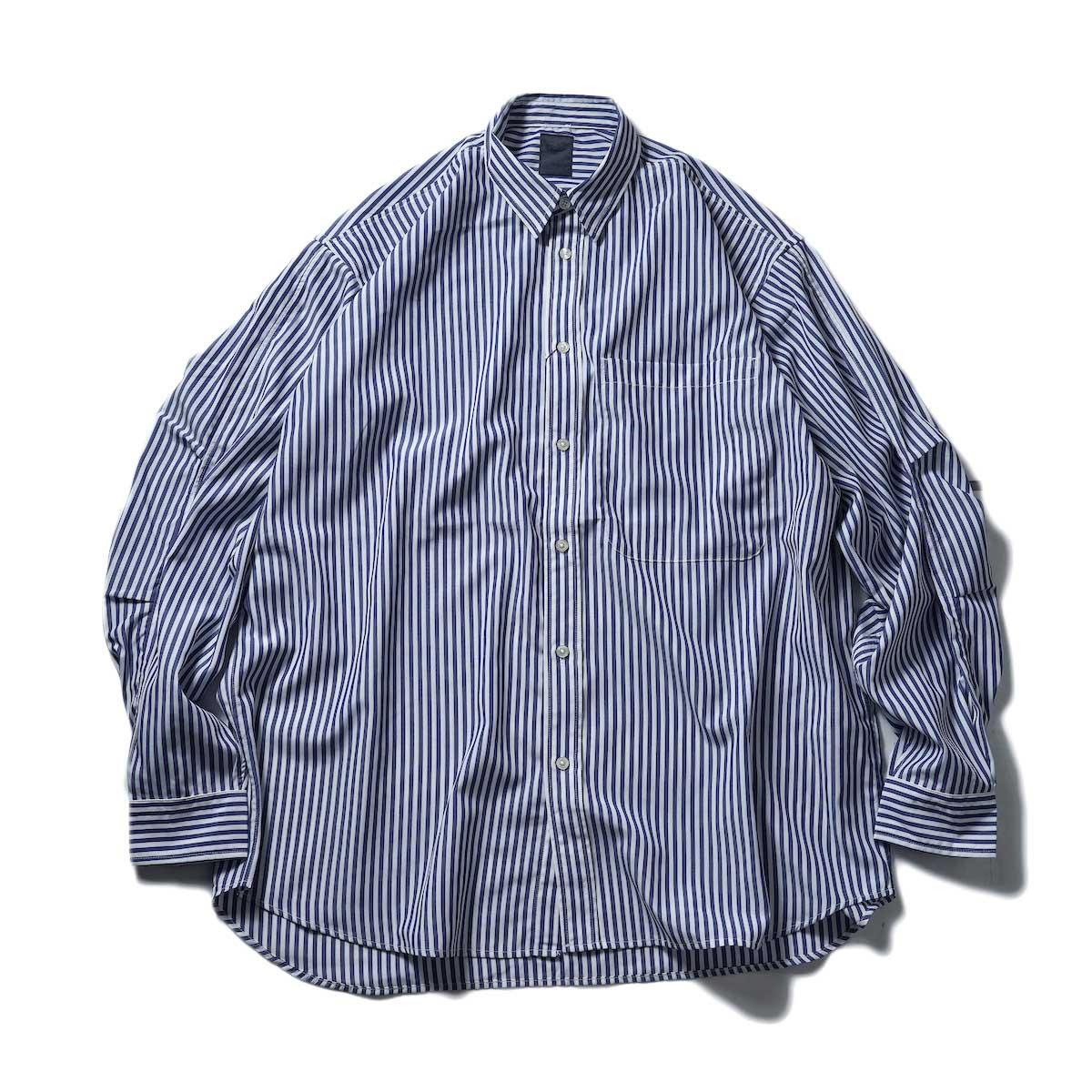 DAIWA PIER39 / Tech Regullar Collar Shirt (Stripe)