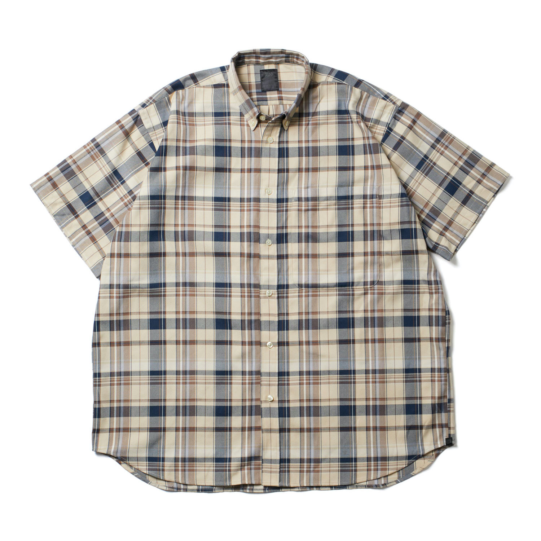 DAIWA PIER39 / Tech BD Flannel Plaids S/S (Beige)