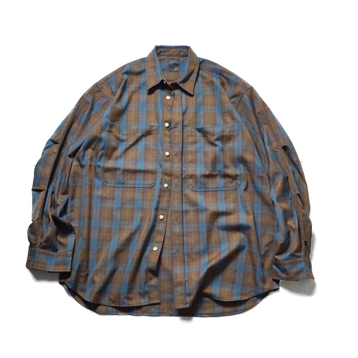 DAIWA PIER39 / TECH FLANNEL WORKER'S SHIRTS (Brown Check)