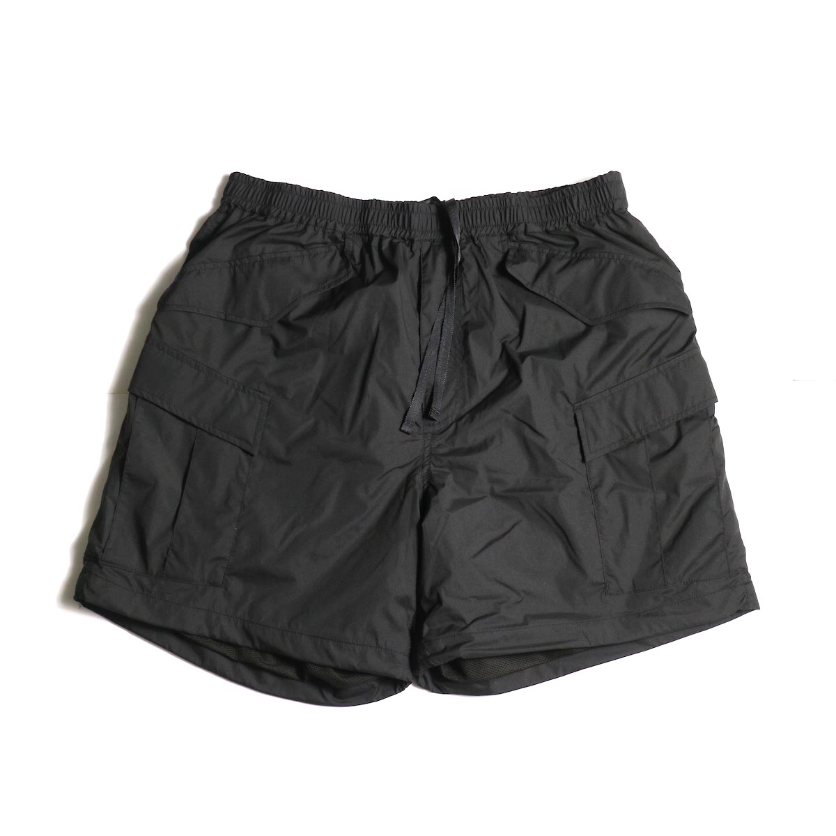 DAIWA PIER39 / Micro Rip-Stop Easy 6P Shorts (Black) 正面