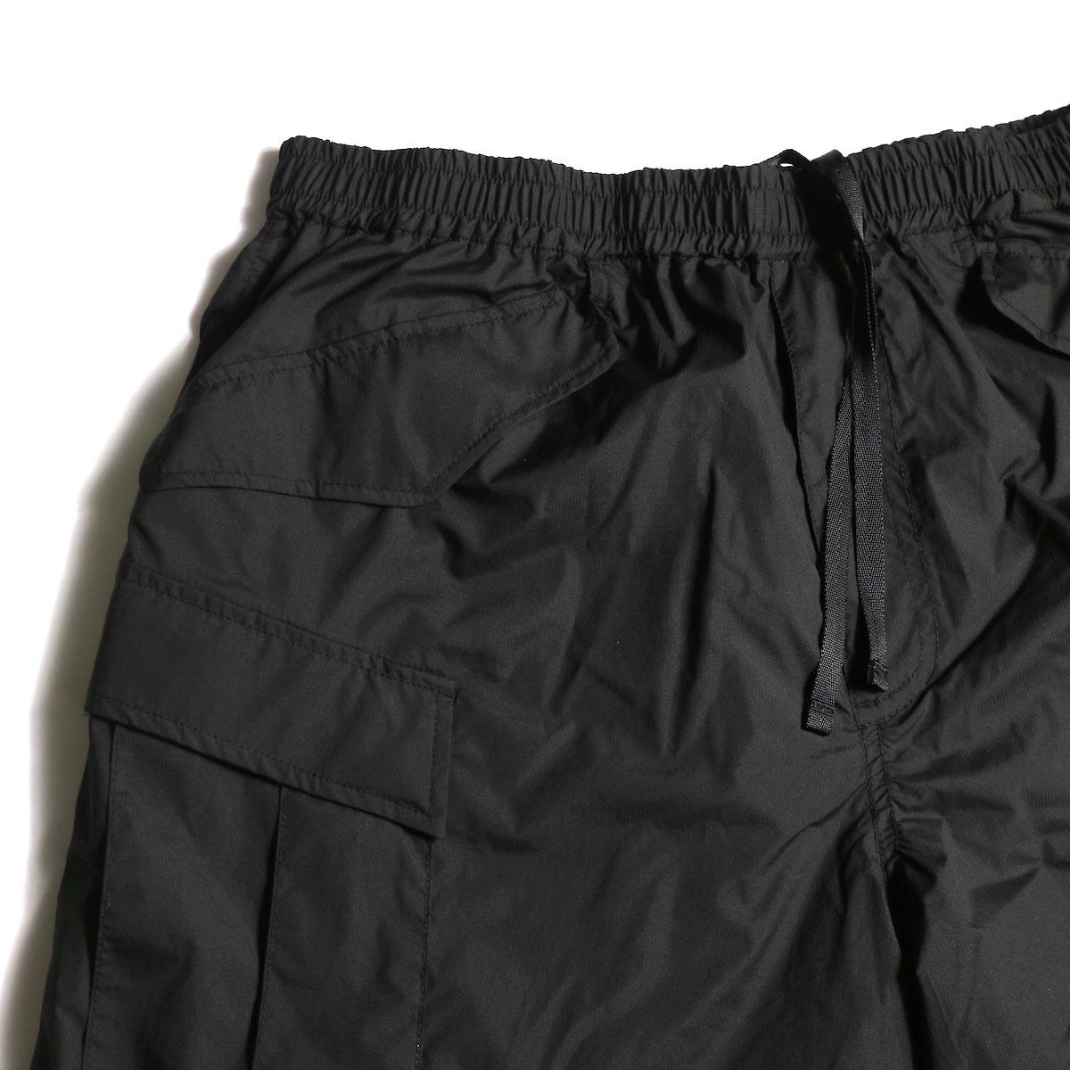 DAIWA PIER39 / Micro Rip-Stop Easy 6P Shorts (Black) フラップポケット