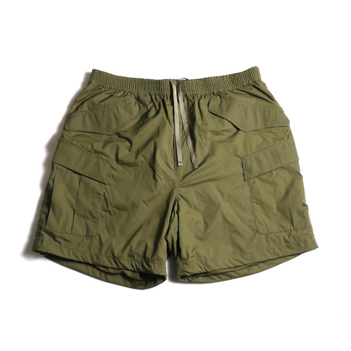 DAIWA PIER39 / Micro Rip-Stop Easy 6P Shorts (Dark Olive)正面