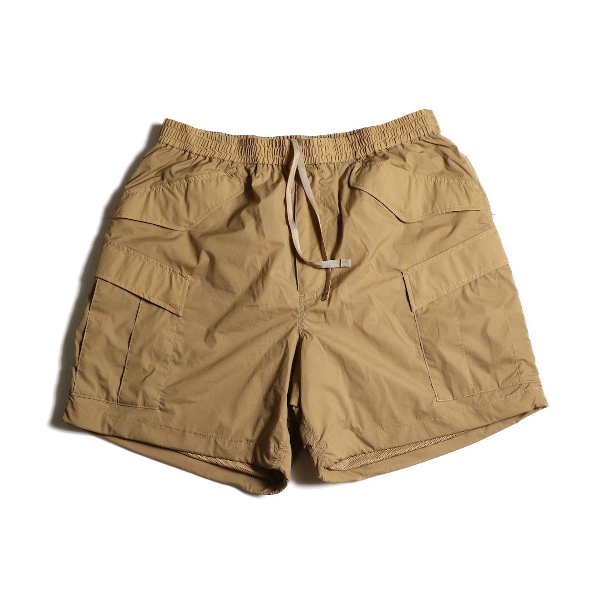 DAIWA PIER39 / Micro Rip-Stop Easy 6P Shorts (Tan)正面