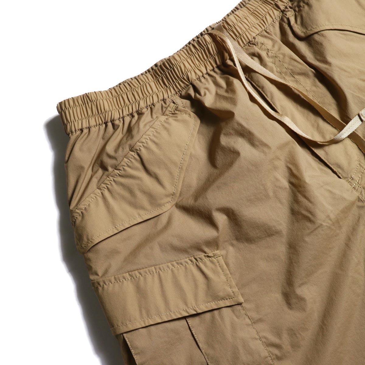 DAIWA PIER39 / Micro Rip-Stop Easy 6P Shorts (Tan)フラップポケット