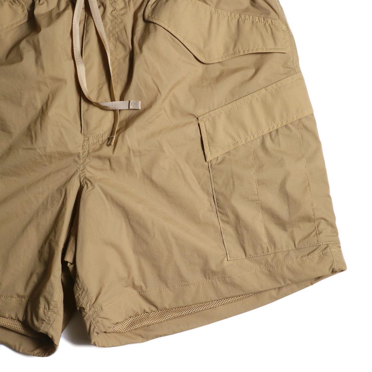 DAIWA PIER39 / Micro Rip-Stop Easy 6P Shorts (Tan) ポケット