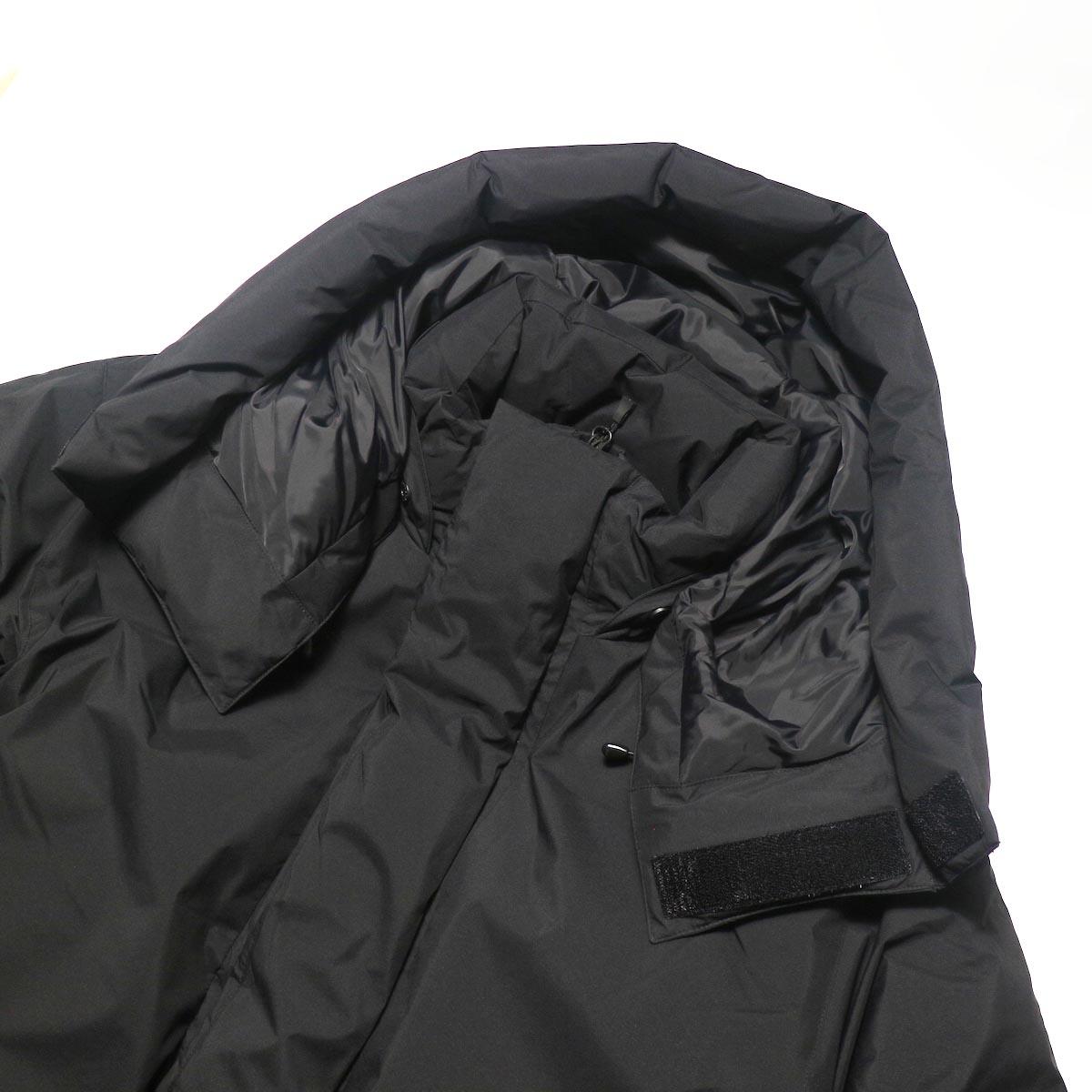 DAIWA PIER39 / GORE-TEX INFINIUM EXPEDITION DOWN JACKET (Black)フード、襟