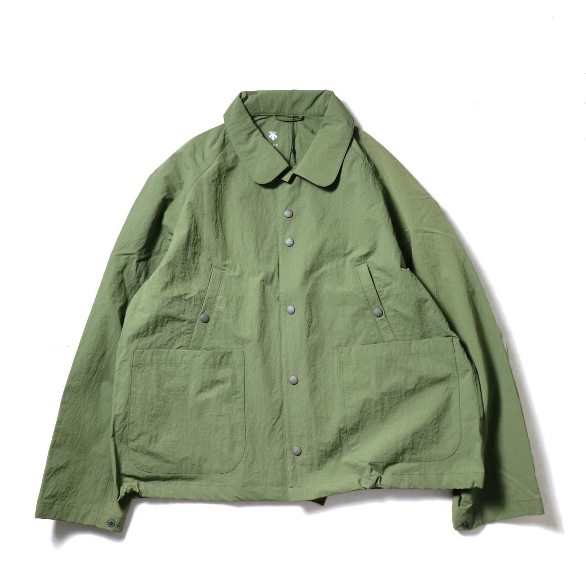DESCENTE ddd / SWING COACH JACKET (Khaki)正面