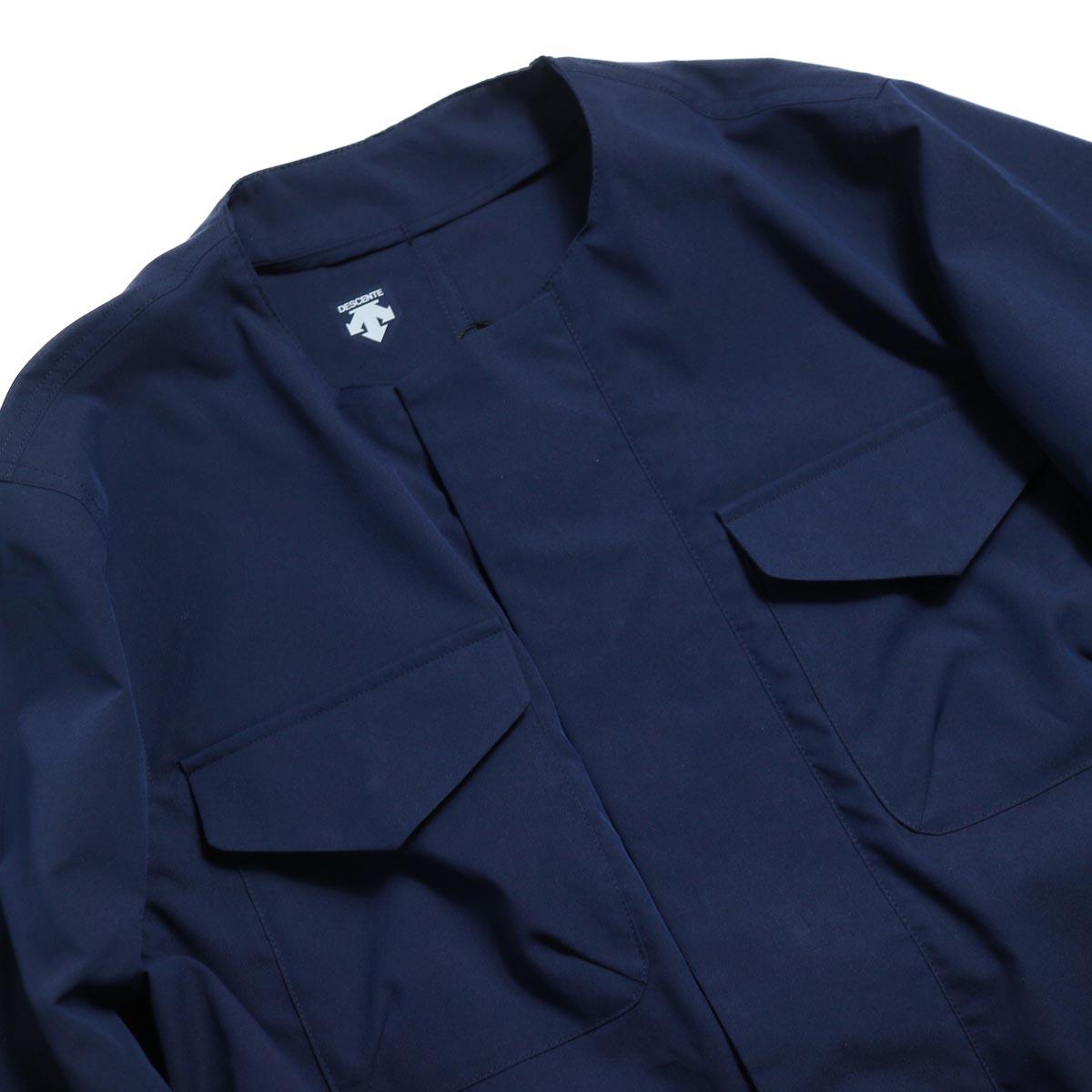 DESCENTE ddd / Utility Jacket -Navy ノーカラー