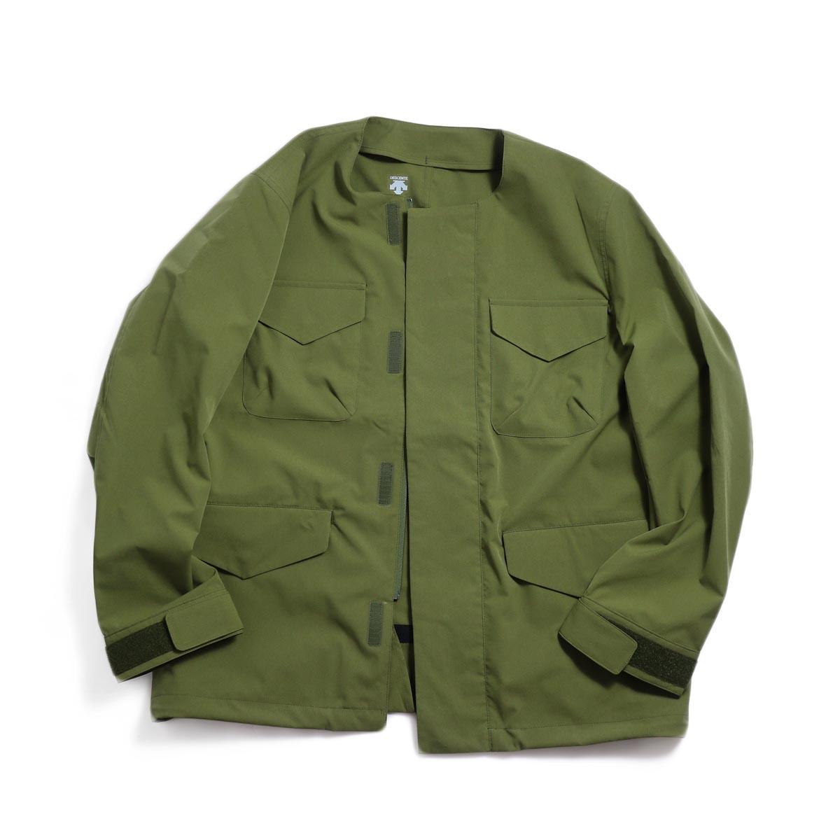 DESCENTE ddd / Utility Jacket -OLIVE 正面