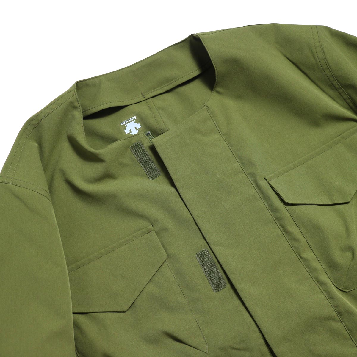 DESCENTE ddd / Utility Jacket -OLIVE ノーカラー