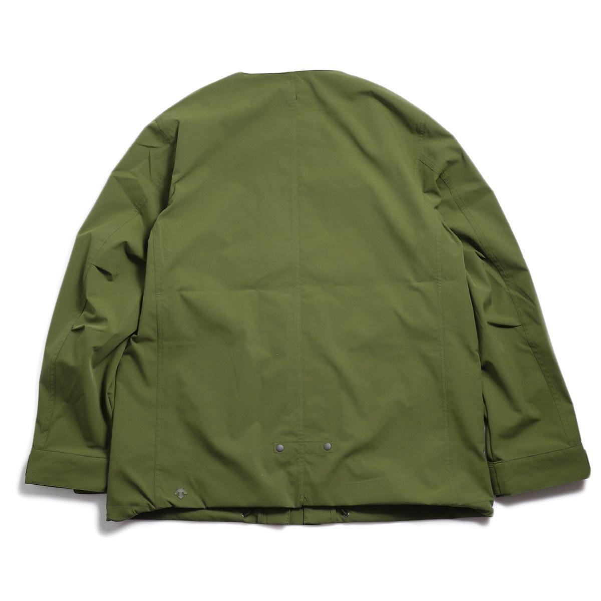 DESCENTE ddd / Utility Jacket -OLIVE 背面